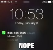 Mysterious Missed Call