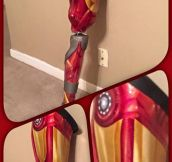 Iron Man's Prosthetic Leg