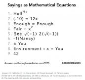 Mathematical Sayings