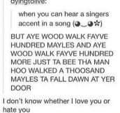 The Singer's Accent