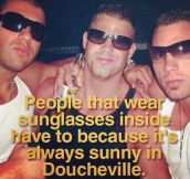 Wearing Sunglasses Inside