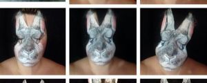 Woman Turns Herself Into Easter Bunny Using Makeup