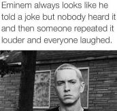 Eminem's Resting Face