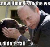 Putin Gets Important Message From Rescue Dog