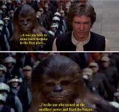 Chewbacca Is Unimpressed