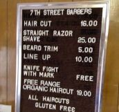 The Coolest Barber Sign