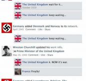 If Facebook Existed During WWII