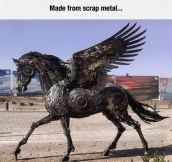 Incredible Pegasus Sculpture