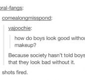 No Make-Up For Boys