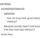 No Make-Up For Boys