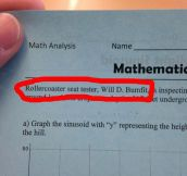 My Math Teacher Thinks He's Pretty Funny