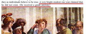 Very Bright Philosophy Student