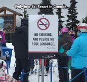 Canadian Warning Sign