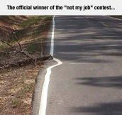 'Not My Job' Contest Winner