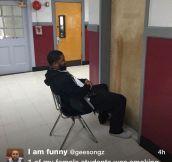 This Teacher Has Dedication