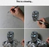 Iron-Man Ultra Realistic Drawing