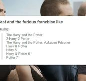If Harry Potter Movies Were Named Like 'Fast And The Furious'