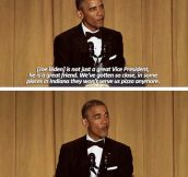 President Obama's Joke-Filled Speech