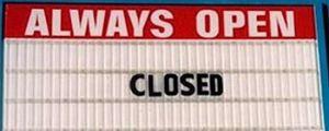 Contradictory Restaurant Sign