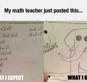 Math Teacher Expectations