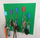 Simple Lego Key Holder