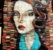 Painting Made With Books' Spines