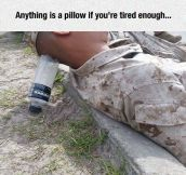 Marines Can Sleep Anywhere
