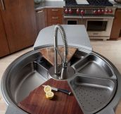 A Beautiful Rotating Sink