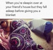 Sleeping Over At Your Friend's House