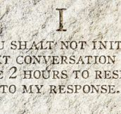 The 10 Commandments Texters Need To Follow