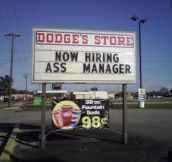 24 Funny & Questionable 'Help Wanted' Signs…