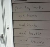 21 Funny Pissed-Off Neighbour Notes