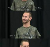 Nick Vujicic Has A Sense of Humor