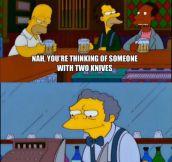 Moe Isn't Always Miserable