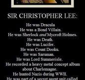 Sir Christopher Lee Is Unbeatable