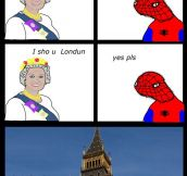 Spoderman In Londun