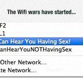 Neighbors Fighting Over WiFi