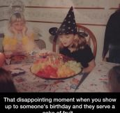 Disappointing Birthday