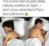 How Couples Sleep In Real Life