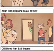 Childhood Vs. Adult Fears