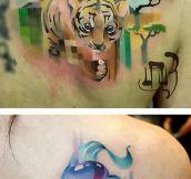 Glitch Art Tattoos