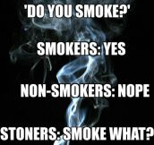 Whenever Someone Asks: Do You Smoke?
