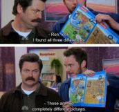Sometimes I'm Ron, Sometimes I'm Andy