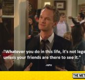 Some Very Deep Words From Barney Stinson