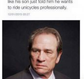 Tommy Lee Jones' Face