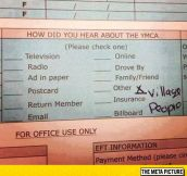 Signing Up For The YMCA