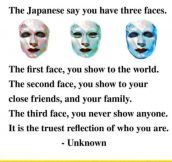 The Three Face Theory