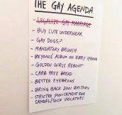 The Gay Agenda Is Going Places