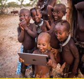 Tribal Children See A Ipad For The First Time