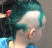 This Kid's Iguana Shaped Haircut Is Awesome
